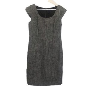 Ann Taylor Gray Cap Sleeve Dress